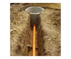 Установка септик, сливная яма, водоотвод